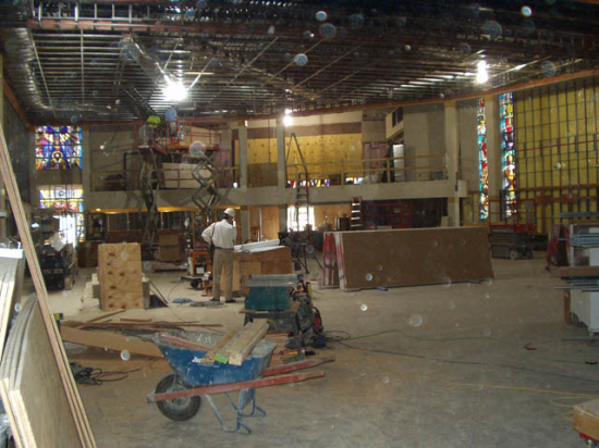 Church renovation in progress