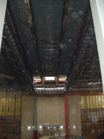 Inside view where skylight will be
